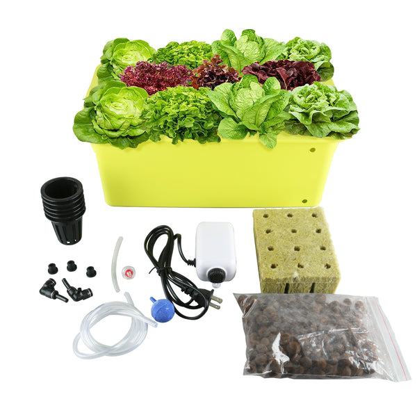 Homend DWC Deep Water Culture Hydroponic System Growing Kit 8 Plant Sites 8Sites