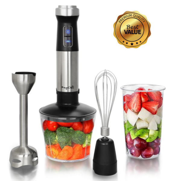 BestChef™ Deluxe Immersion Hand Blender 4 in 1 Multipurpose and Accessories