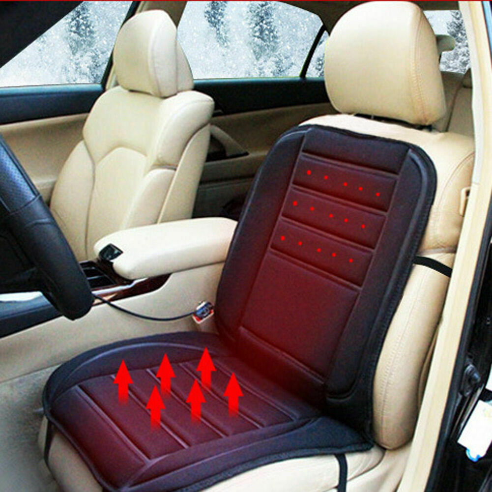 BestHeat™ Car Front Seat Heated Pad Cushion 12V Black