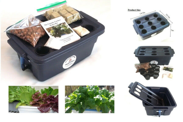 BestPlant™ Hydroponic Grow Kit System Dwc Culture Indoor/Outdoor Starter 9 Site Garden Box