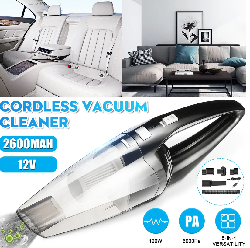 Best Vac™ Cordless Vacuum Cleaner Handheld, Bagless - USB Charge - Rose Gold