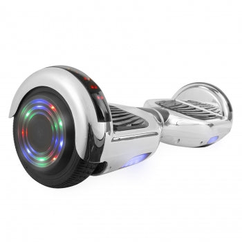 BestHover™ Hoverboard Bluetooth Speakers Kids Adult Gift in Silver Chrome