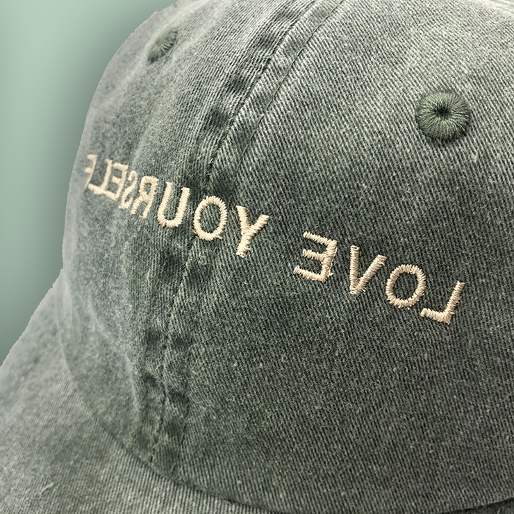 Love Yourself Hat (Washed Green/Soft Gold)