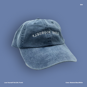 Love Yourself Hat (Washed Blue/White)