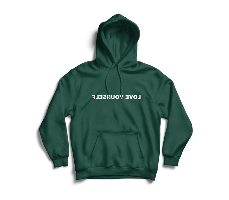 Love Yourself Hoodie (White On Green)