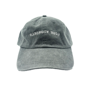 Love Yourself Hat (Washed Black/White)