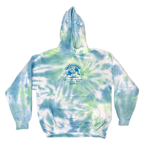Global Love Tie-Dye Hoodie (Blue & Green)