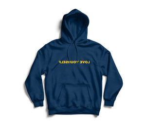 Love Yourself Hoodie (Navy & Maize)