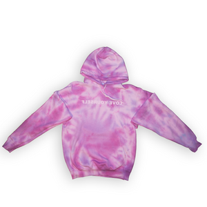 Love Yourself Tie-Dye Hoodie (Purple & Blue Blend)