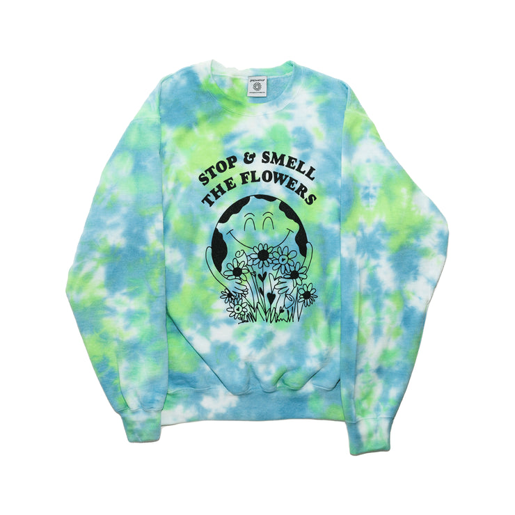 Earth Day Crewneck (Land & Sea Tie-Dye)