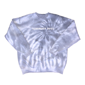 Tie-Dye Love Yourself Crewneck (Marble)