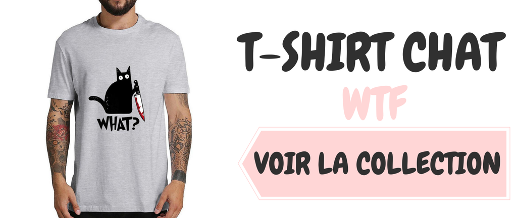 T-SHIRT HOMME CHAT WHAT ?