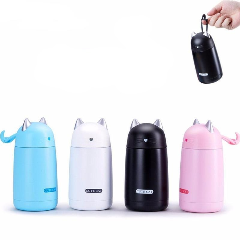 Thermos Chat Acier Inoxydable