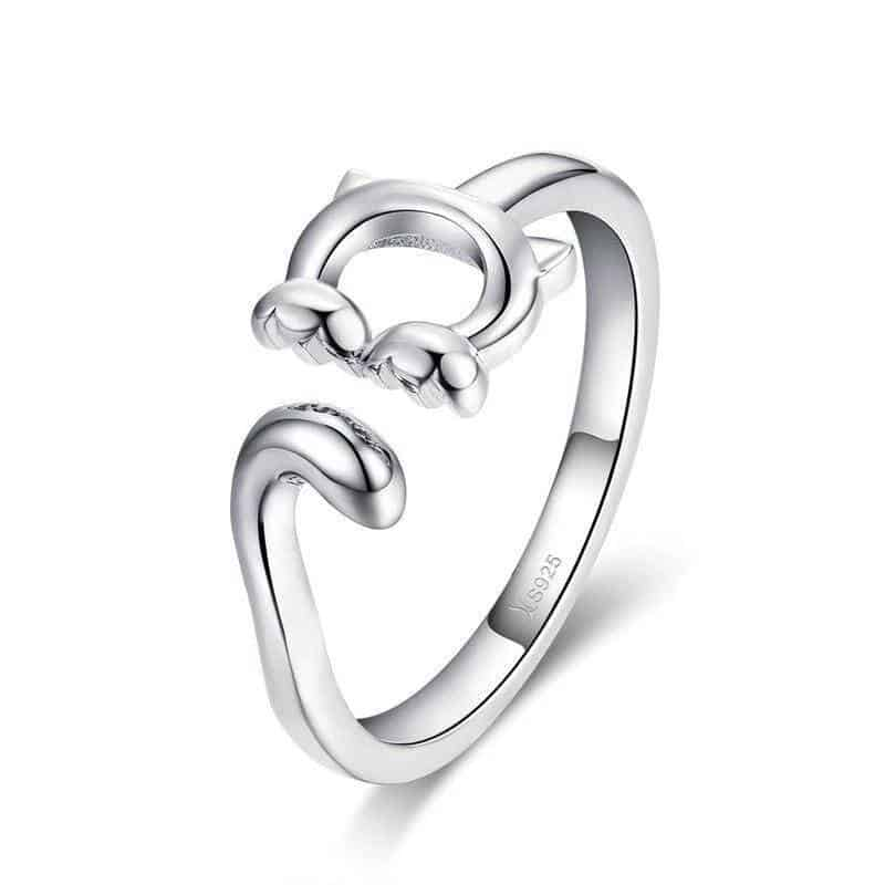 Bague Chat   Femme adorable