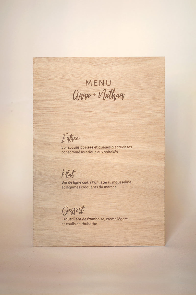 "Menu ""Douce Balade"""