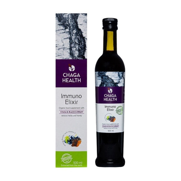 Immuno Elixir Chaga & Blackcurrant 500 ml - Biohacker Center Store