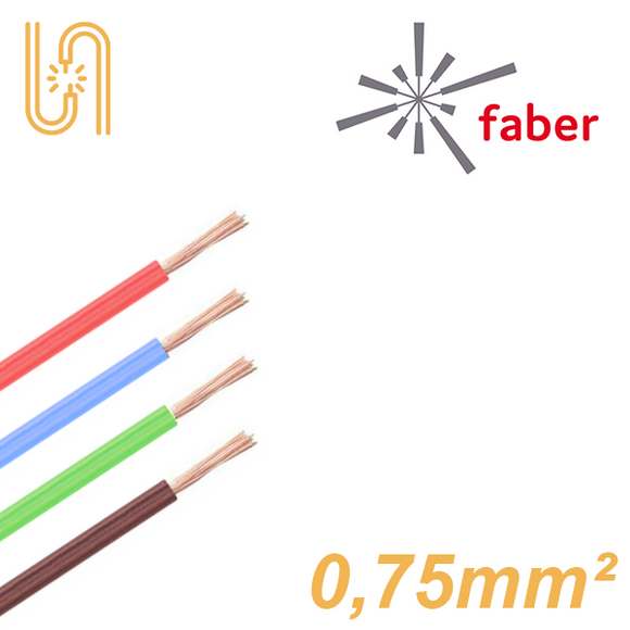 FaberKabel Flexible Litze 0,75 mm² | H05V-K | 100m