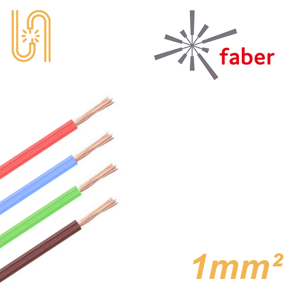 FaberKabel Flexible Litze 1 mm² | H05V-K | 100m