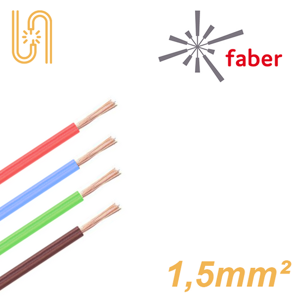 FaberKabel Flexible Litze 1,5 mm² | H07V-K | 100m