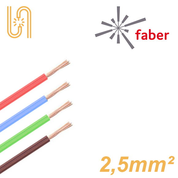 FaberKabel Flexible Litze 2,5 mm² | H07V-K | 100m