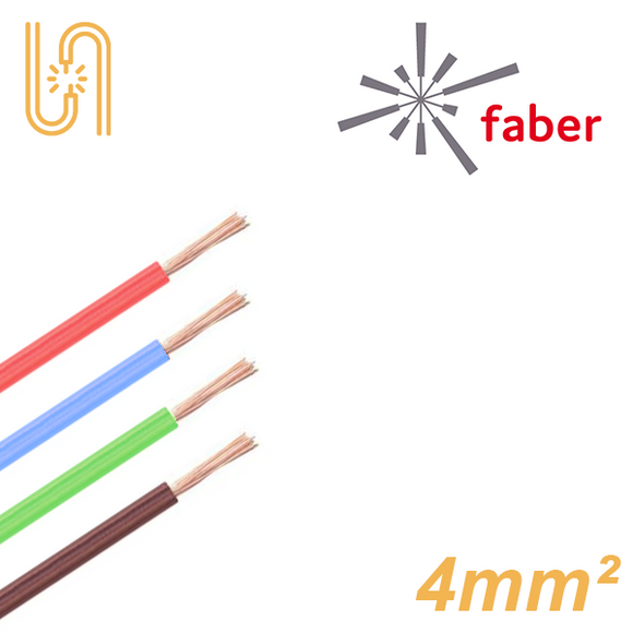 FaberKabel Flexible Litze 4 mm² | H07V-K | 100m