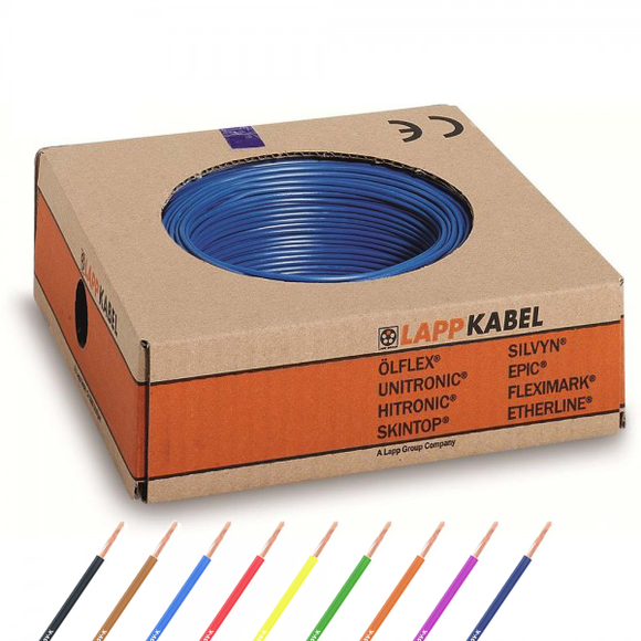 6 mm² LappKabel Flexible Litze | H07V-K | 100m (0,68€/m)