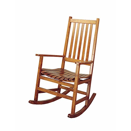 Traditional Brown Wooden Porch Rocking Chair Classic Rocker Chair