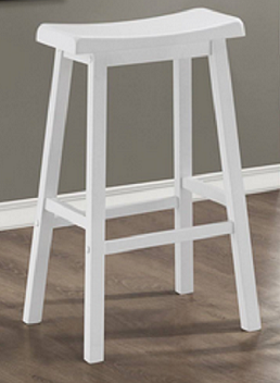 "White Counter and Bar Stools 29"" (Set of 2)"