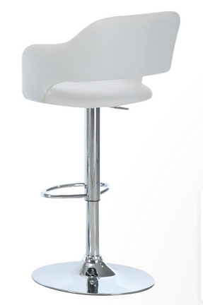 barstool-white-chrome-backview