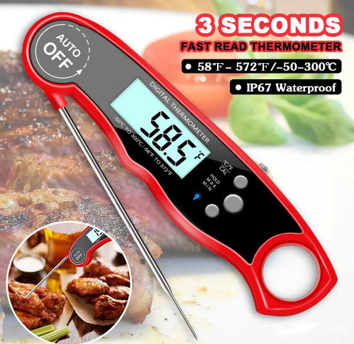 Waterproof Digital Meat Thermometer Instant Read for Cooking Grill BBQ
