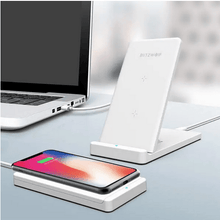 Load image into Gallery viewer, QuickX Blitzwolf Qi Wireless 2-in-1 Charging Pad and Stand for iphone and Samsung