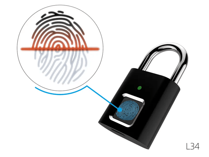 SafeRR Smart Fingerprint Mini PadLock