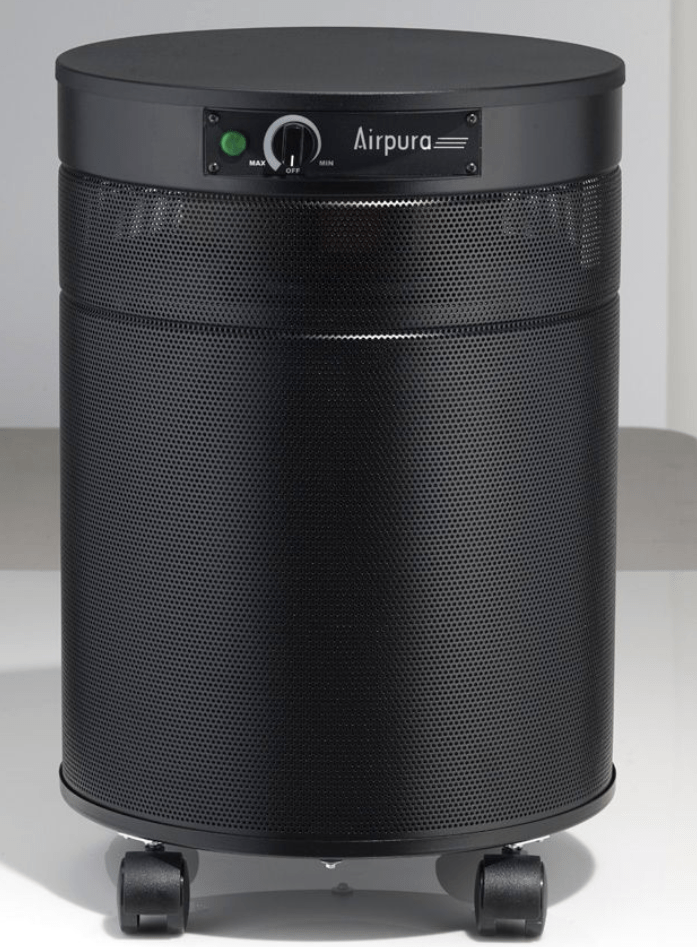 AirPura® F600-DLX Deluxe Air Purifier for Formaldehyde, Lead Particles and Chemical Absorption with 3 Inch Deep Super Enhanced Carbon Filter and HEPA Barrier for Workplace and Industrial Use, 2000 Sq. Ft. (F600-DLX)