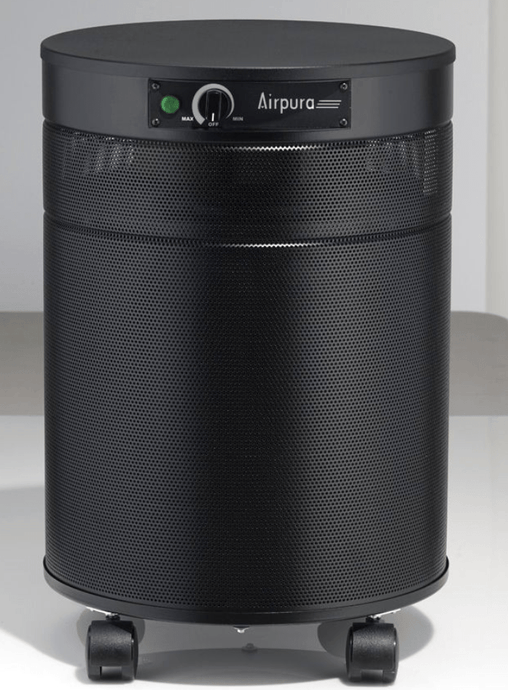 AirPura® Deluxe Air Purifier for Formaldehyde, Lead Particles and Chemical Absorption with 3 Inch Deep Super Enhanced Carbon Filter and HEPA Barrier for Workplace and Industrial Use, 2000 Sq. Ft. (F600-DLX)
