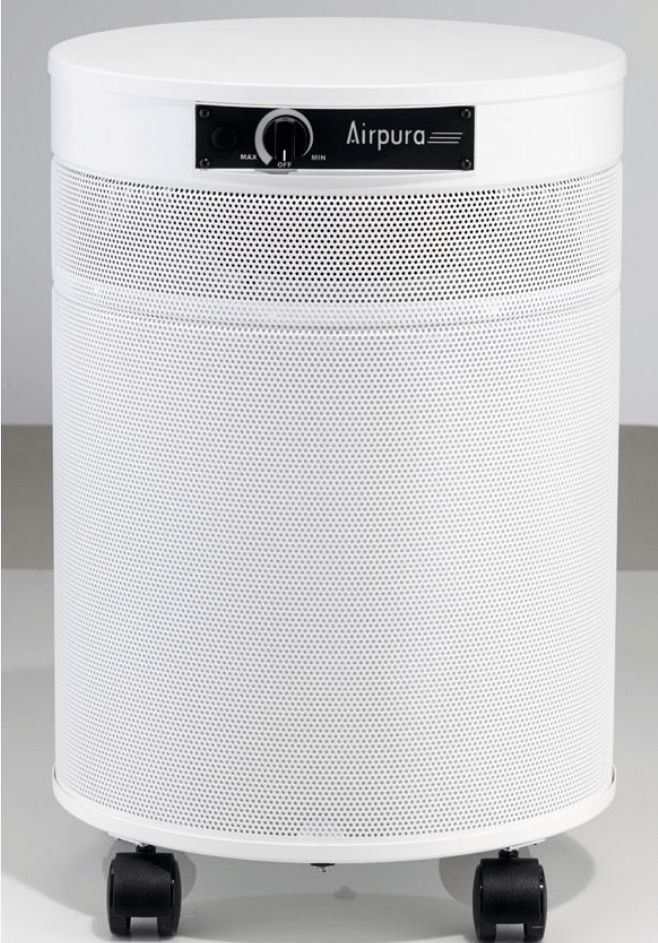 AirPura® Deluxe Air Purifier for Heavy Duty Odor, Household Chemical Removal with Powerful 3 inch Carbon Filter and HEPA Barrier for the Chemically Sensitive, 2000 Sq. Ft. (G600-DLX)