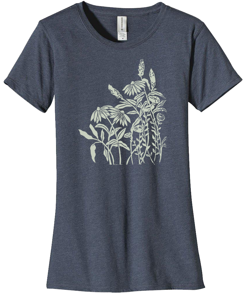 Block Print Wildflowers T-Shirt