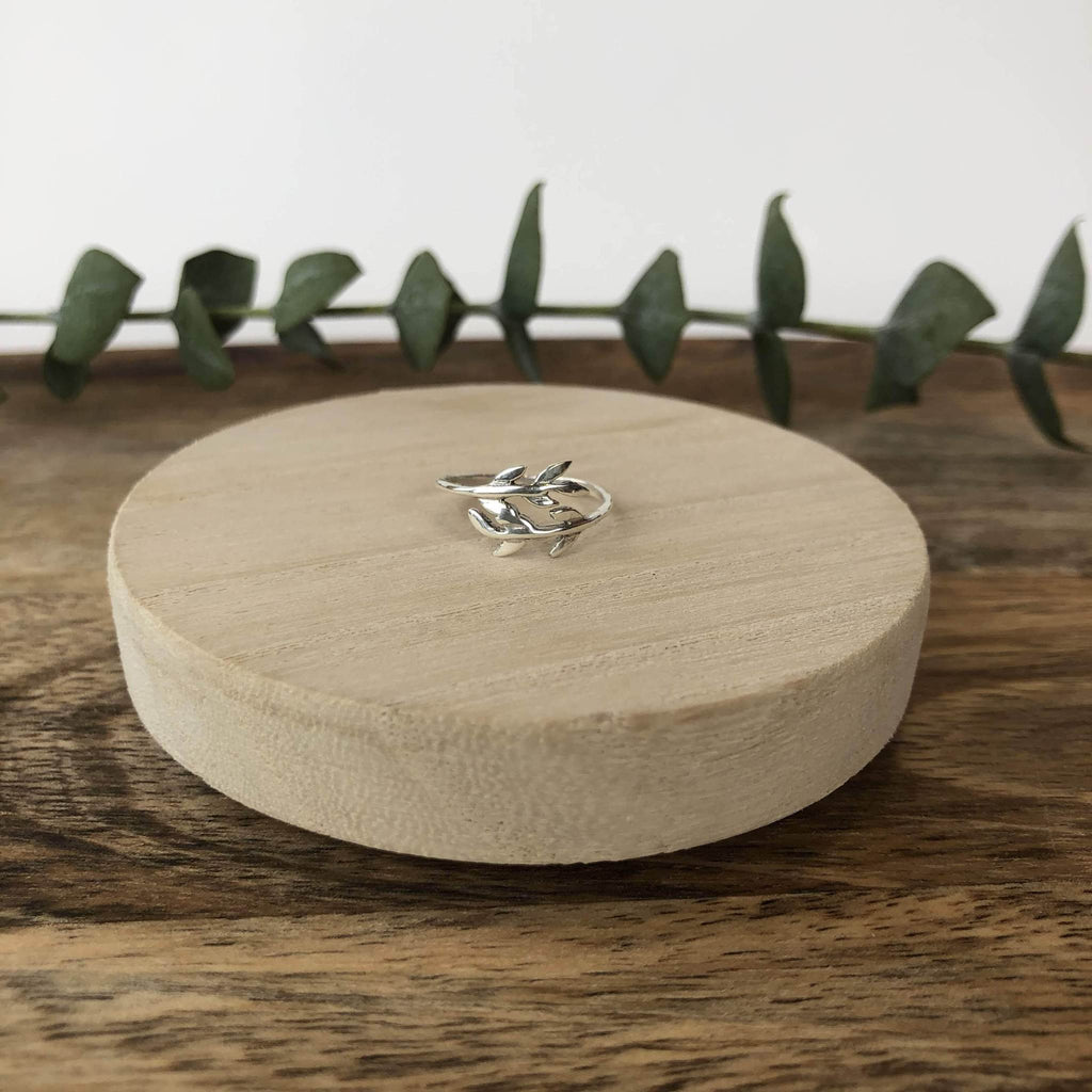 Sterling Silver Eucalyptus Ring | Kokua Collective
