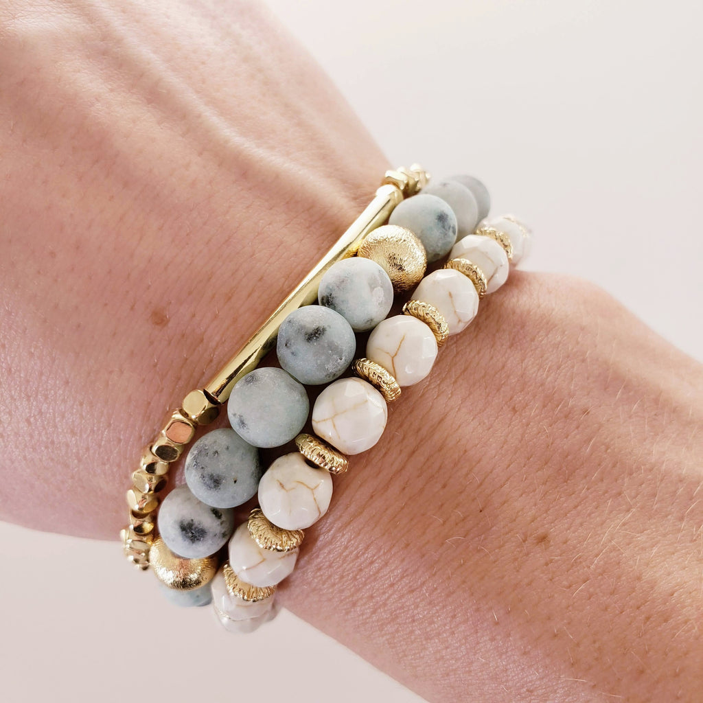The Santa Fe Stacker Bracelet | Hematite