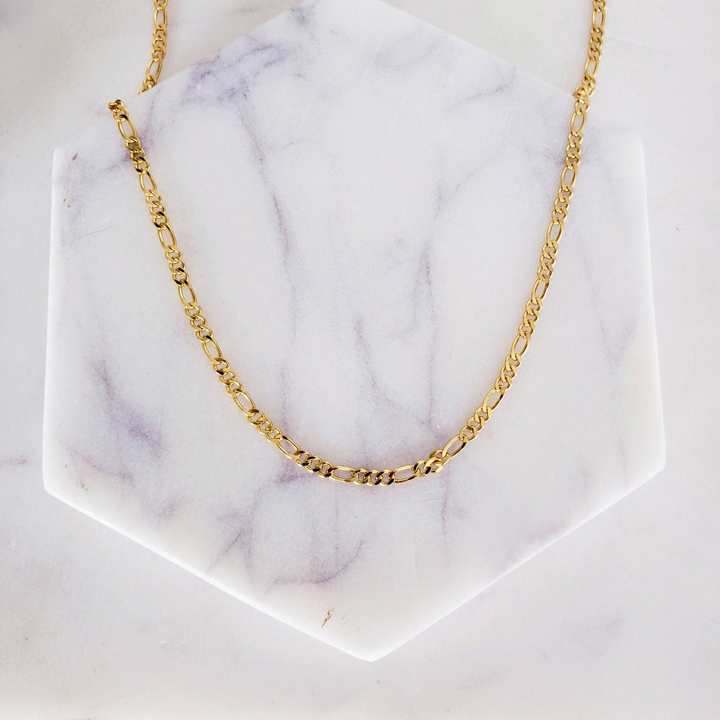 The Tahiti Necklace | Figaro Chain Choker