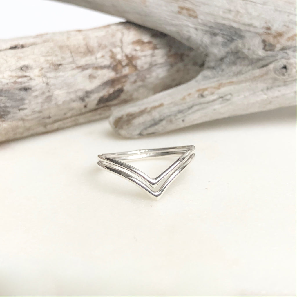Double Chevron Stacking Ring - Kokua Collective