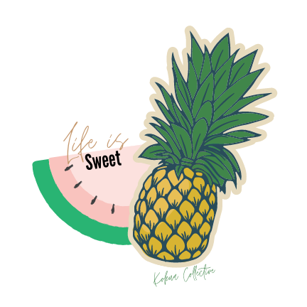 Life is Sweet Sticker - Kokua Collective