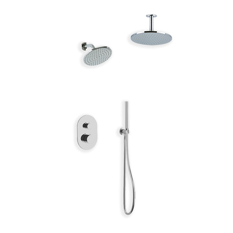 PS108 - Opera Shower Set with Handheld, Wall Mount Shower Head, Ceiling Mount Shower Head Round