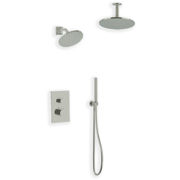PS109 - Otella Shower Set with Handheld, Wall Mount Shower Head, Ceiling Mount Shower Head Round & Square