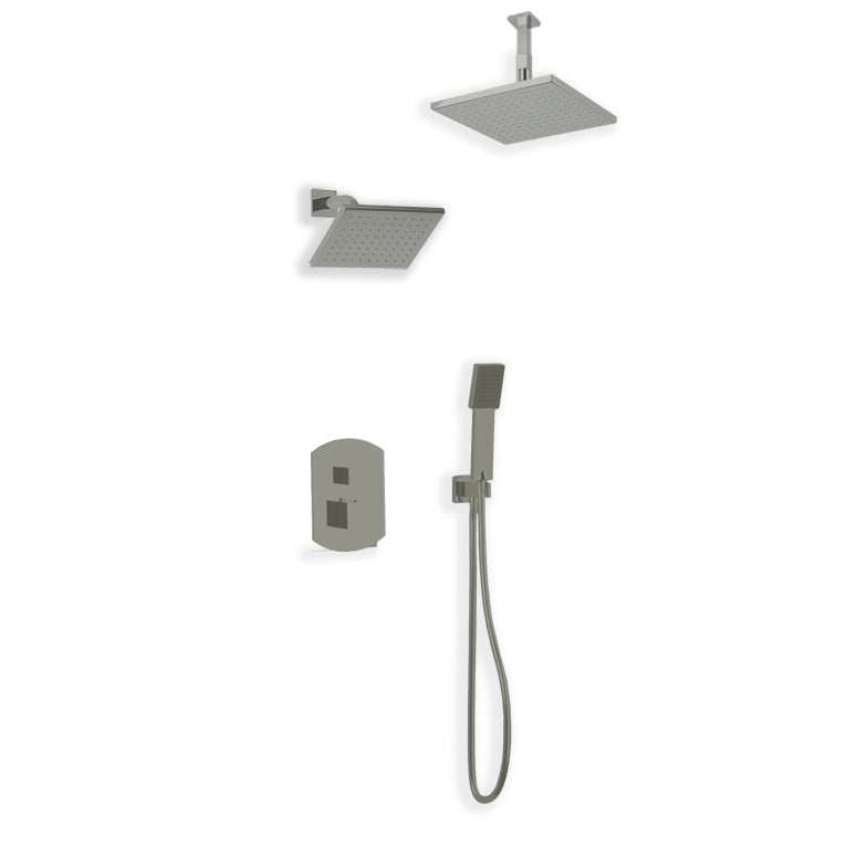 PS110 - Safire Shower Set with Handheld, Wall Mount Shower Head, Ceiling Mount Shower Head