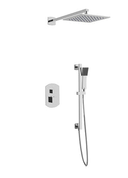 PS138 - Safire Shower Set with Slide Bar, Wall Mount Shower Head Curved