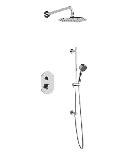 PS136 - Opera Shower Set with Slide Bar, Wall Mount Shower Head Round
