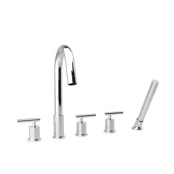 F502-10 - Opera 5-Hole Deck Mount Tub Filler