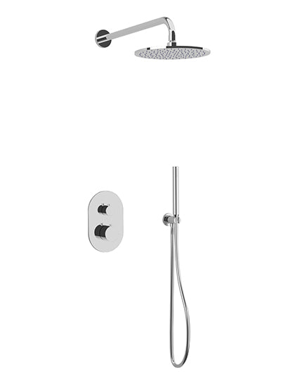 PS140 - Opera Shower Set with Hand Held, Wall Mount Shower Head Round