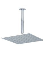 "F907-12/9 - 12"" Shower Rainhead Ceiling Mount 14"" Arm, Square"