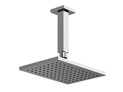 "F703-2/5 - 8"" Shower Rainhead Ceiling Mount 4.75"" Arm, Square"